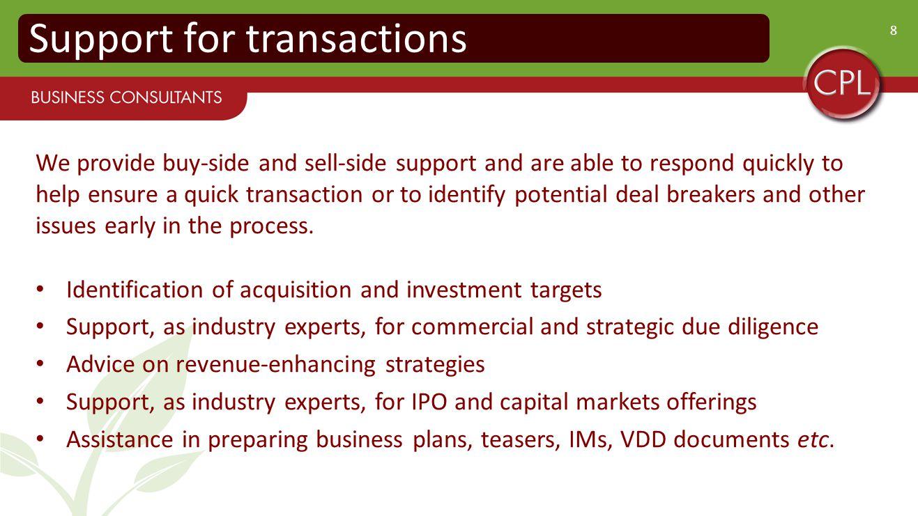 9 Strategic Information and Advice Market strategy e.g.