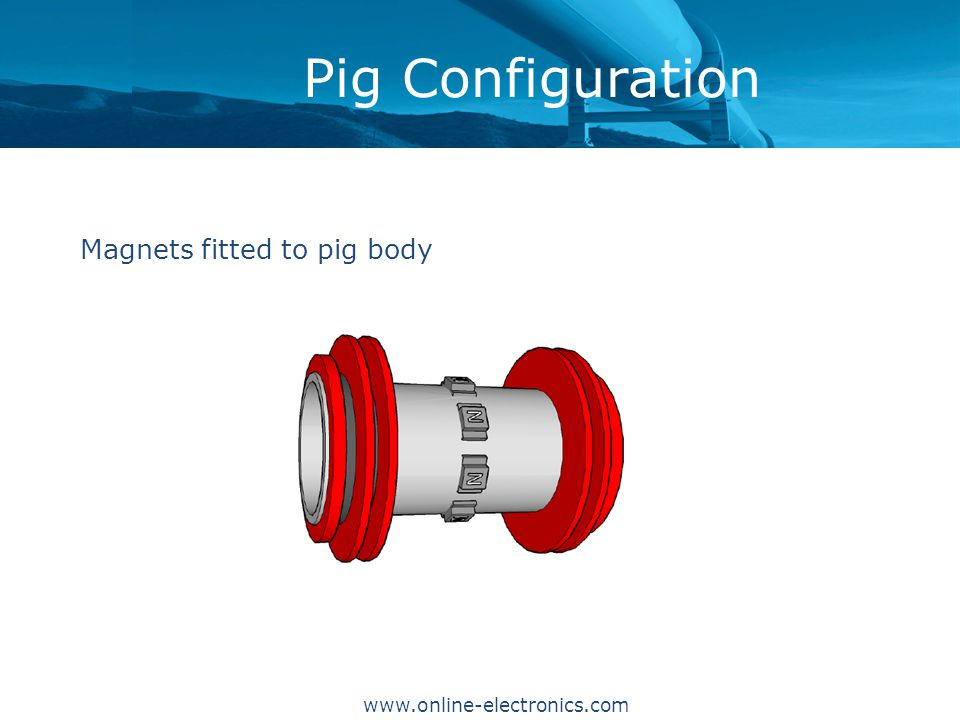 Pig Configuration Magnets fitted to pig body www.online-electronics.com