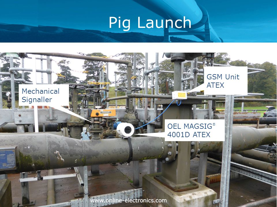 Pig Launch www.online-electronics.com Mechanical Signaller OEL MAGSIG ® 4001D ATEX GSM Unit ATEX