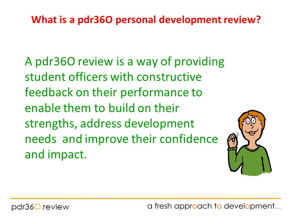 pdr36O review What is a pdr36O personal development review.