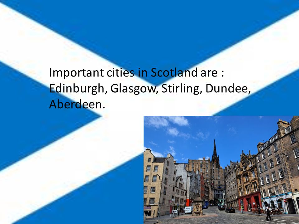 Scotland flag has got blue background with white cross.
