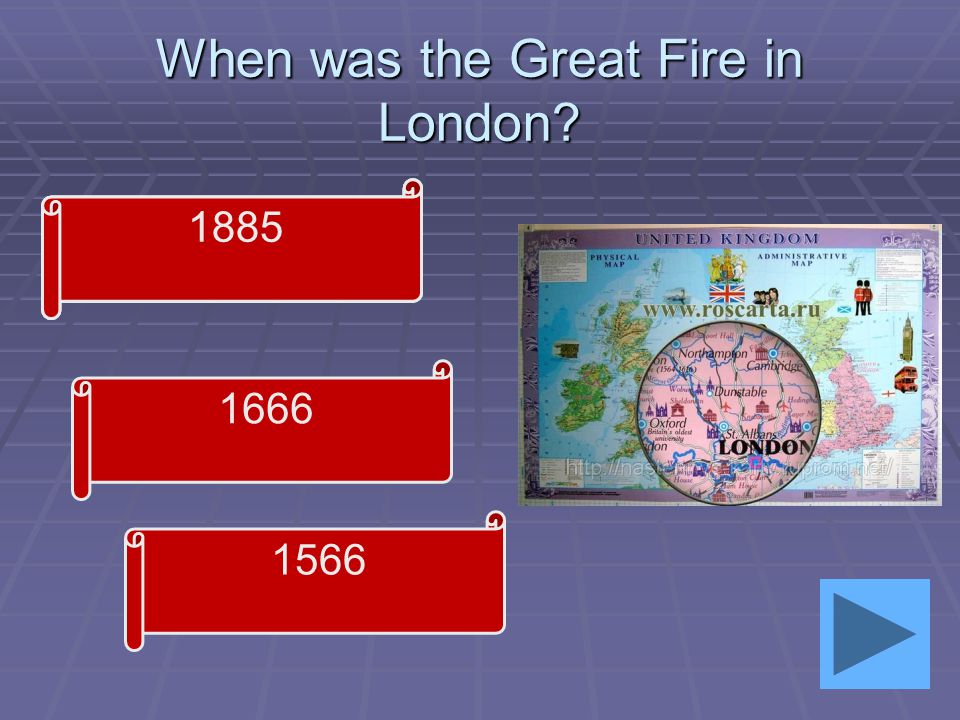 When was the Great Fire in London 1666 1566 1885