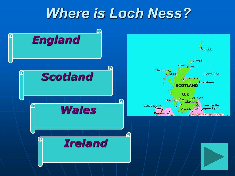 Where is Loch Ness England Scotland Wales Ireland