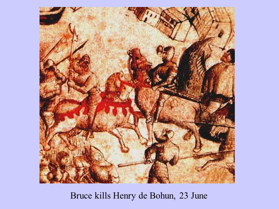 Bruce kills Henry de Bohun, 23 June