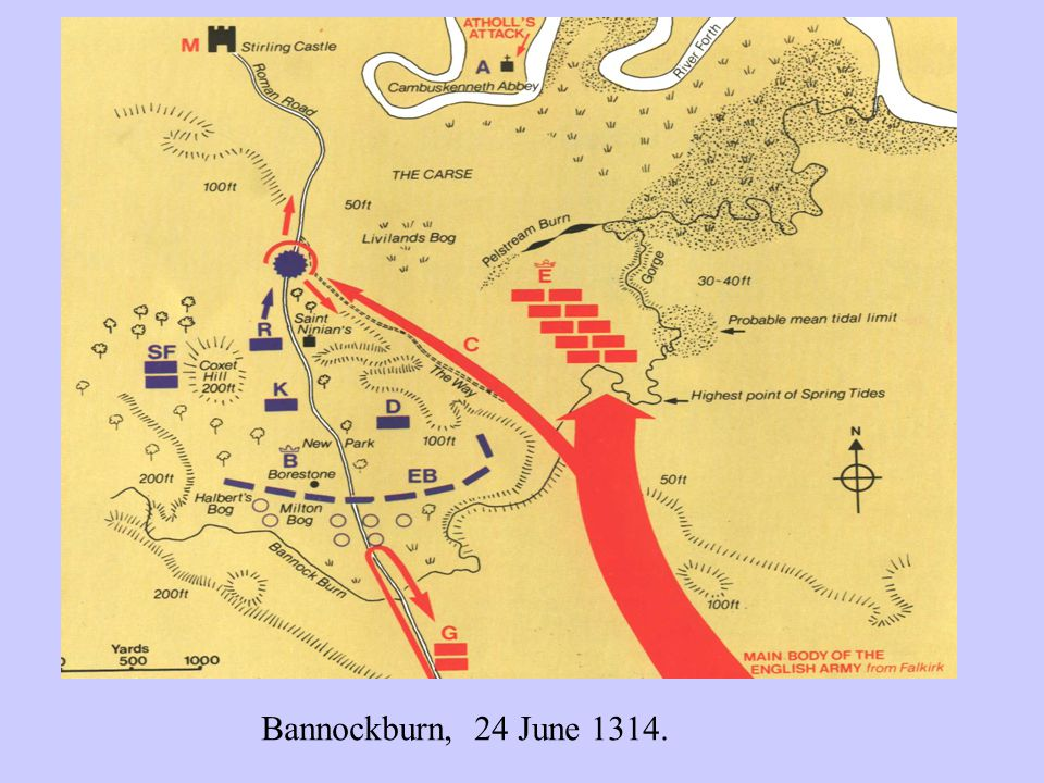 Bannockburn, 24 June 1314.