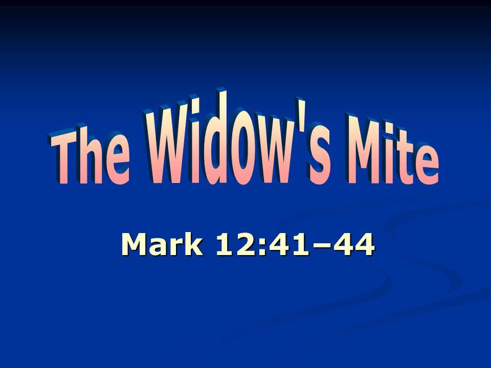 Mark 12:41–44