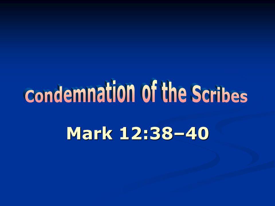 Mark 12:38–40