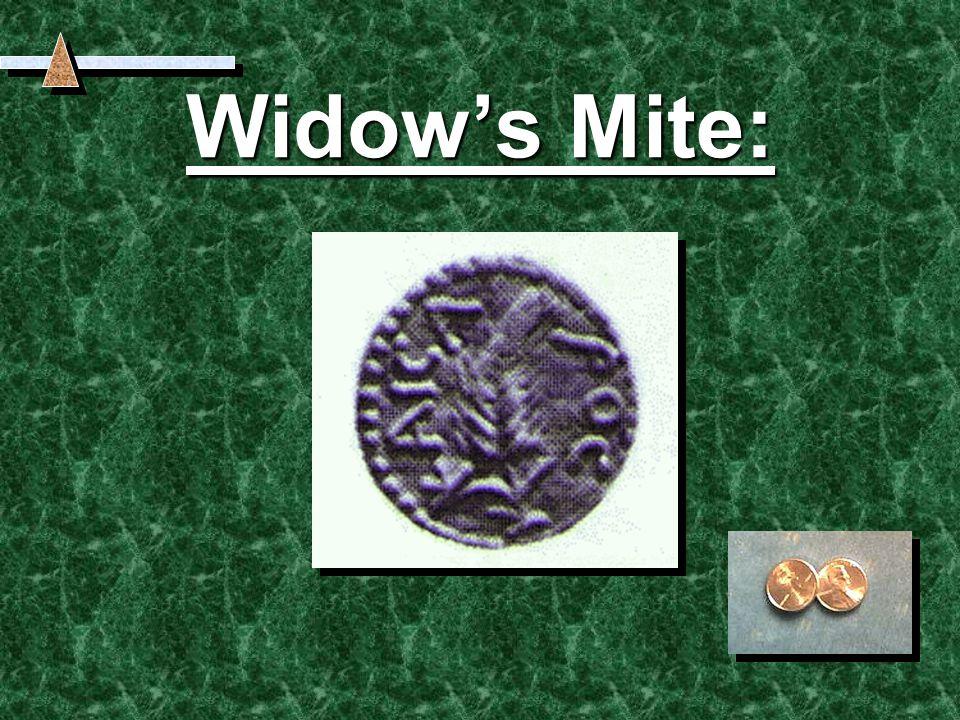 Widow's Mite: