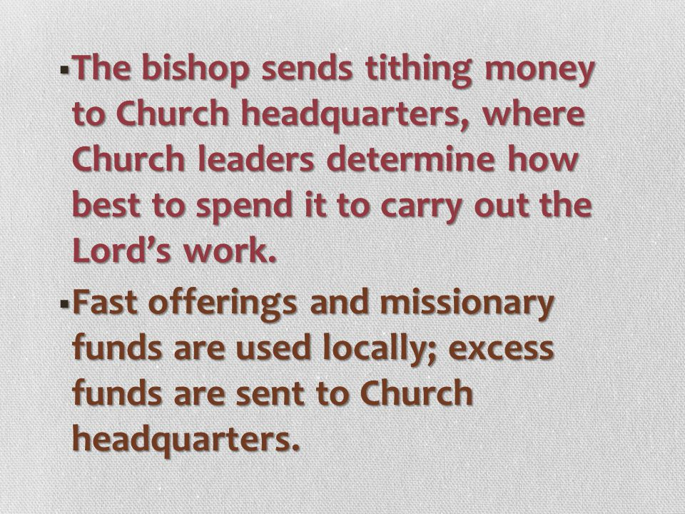 WWWWhen should we pay our tithing? WWWWe can pay tithing any time during the year, but it is best to pay as soon as we receive any income. T