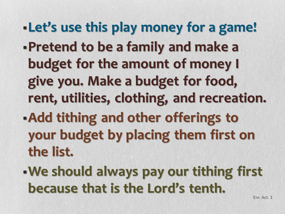  In the future we may be asked to give everything we have to the Church.  But right now we are asked to give only what we are able to donate and sti