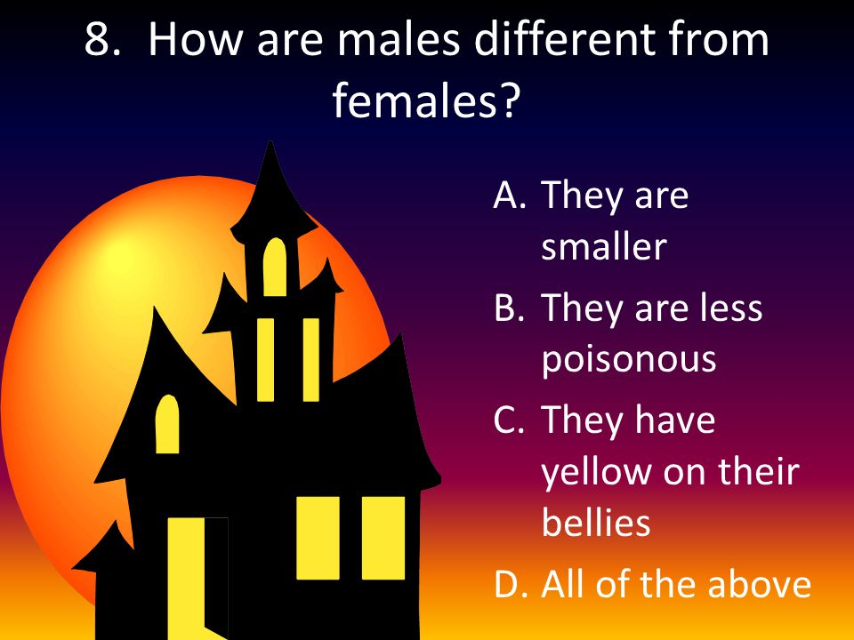 8. How are males different from females.