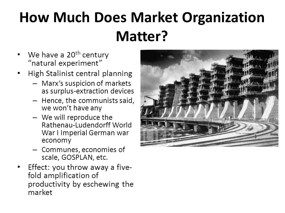 How Much Does Market Organization Matter.