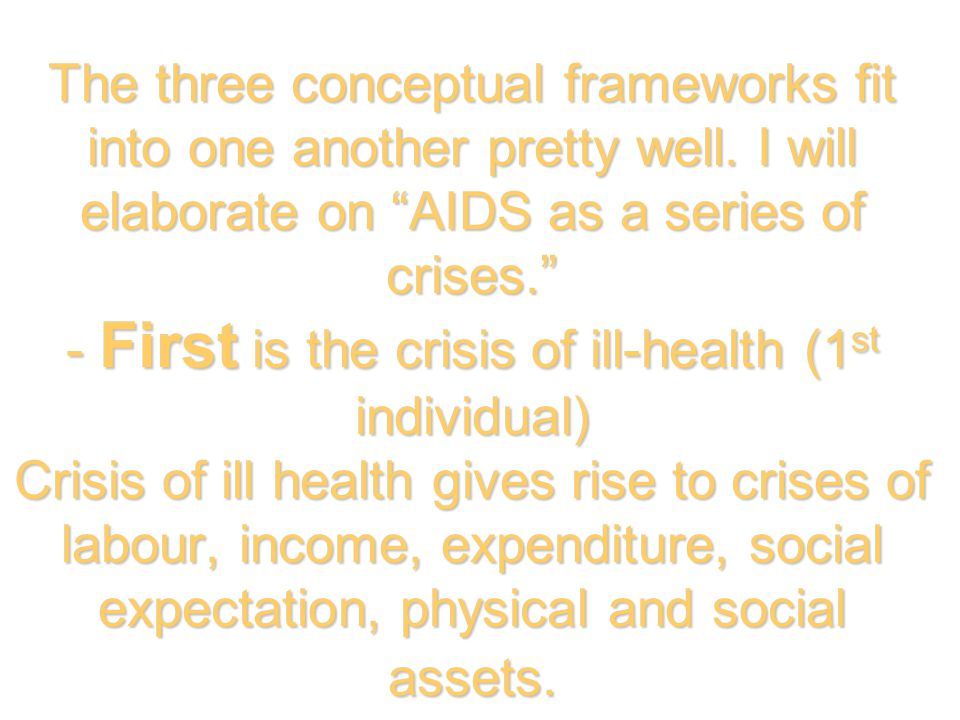 The three conceptual frameworks fit into one another pretty well.