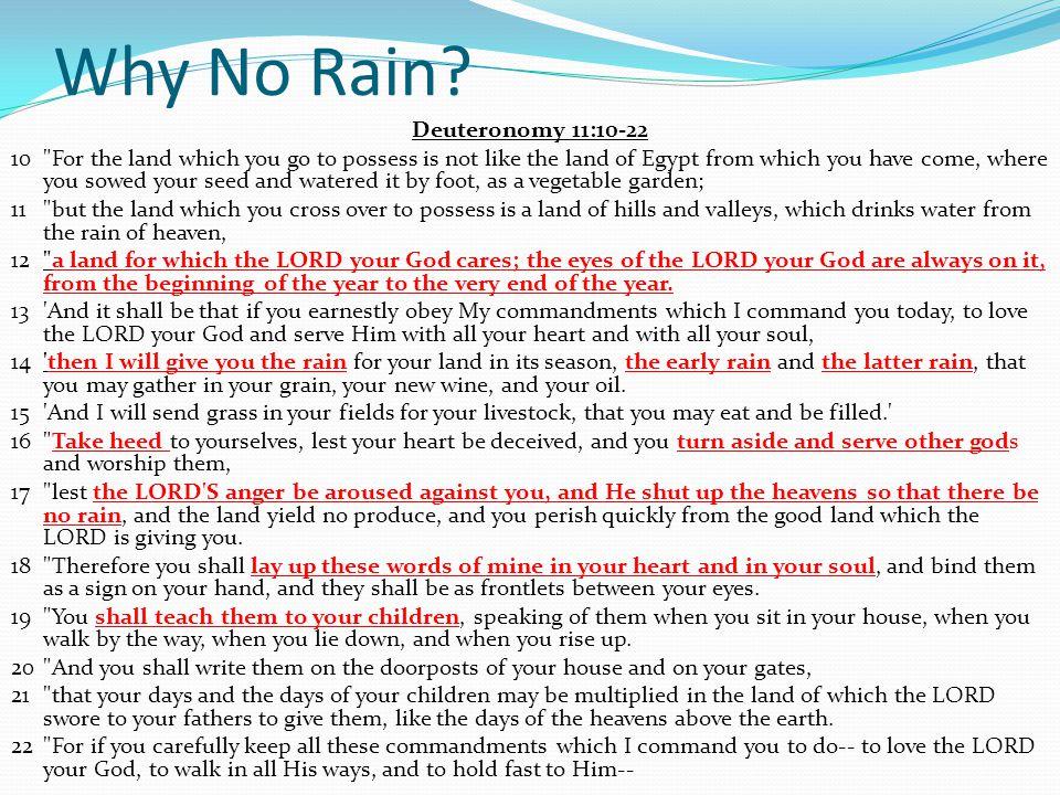 Why No Rain.