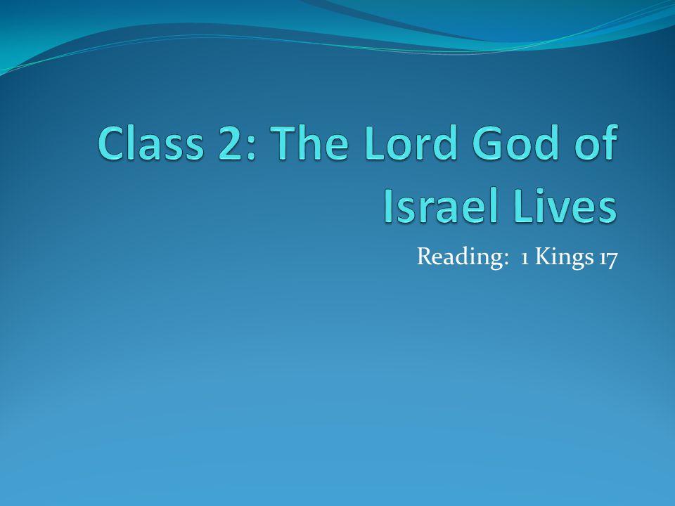 Reading: 1 Kings 17