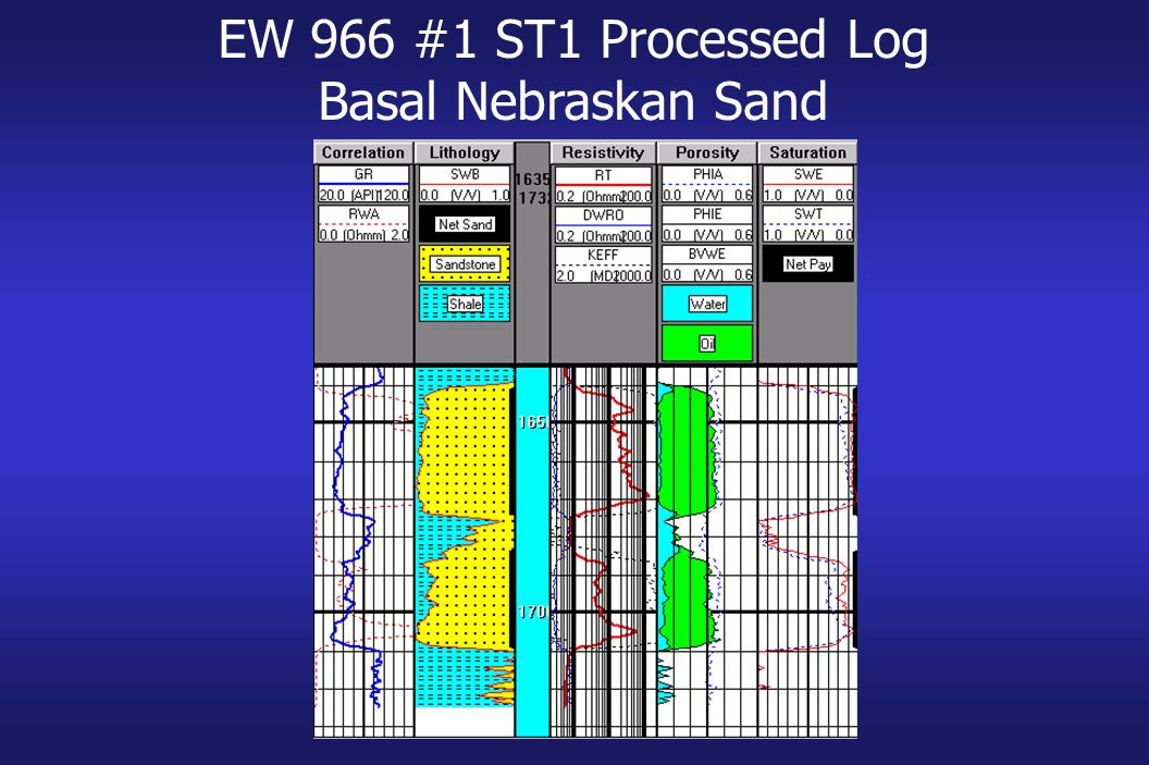 EW 966 #1 ST1 Processed Log Basal Nebraskan Sand
