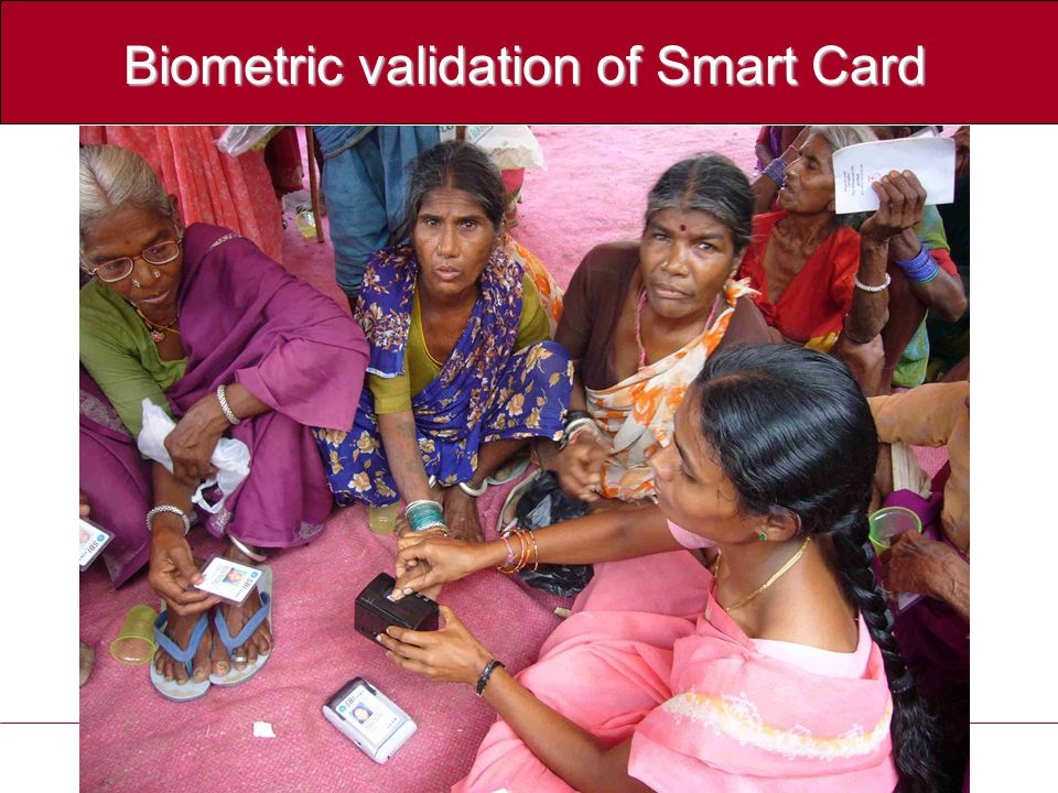 Biometric validation of Smart Card