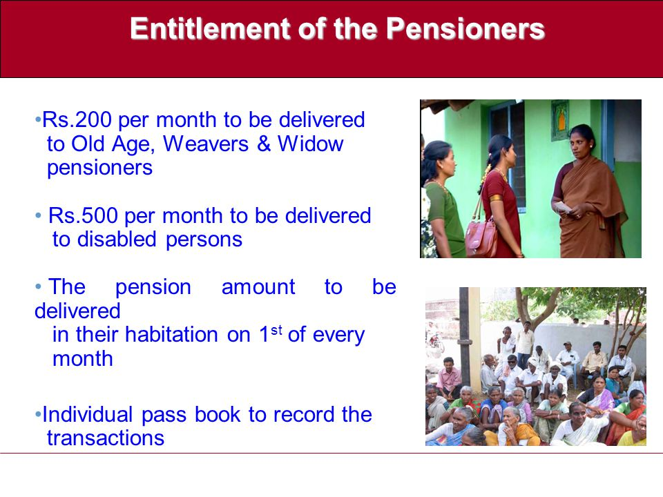 Delivery of Pensions  District Collector notifies a Govt.