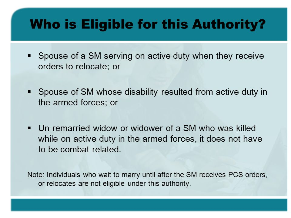Who is Eligible for this Authority.