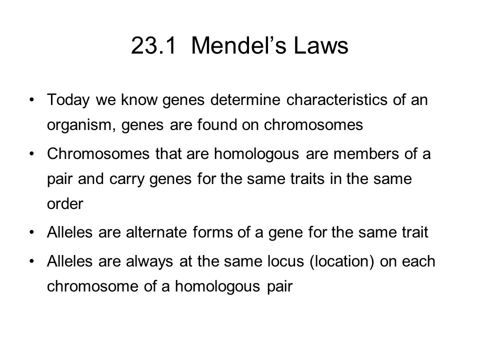 23.1 Mendel's Laws Practice Problems –Both you and your sibling have attached ear lobes, but your parents have unattached lobes.