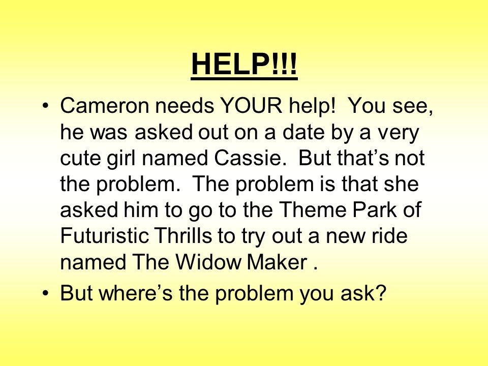 HELP!!. Cameron needs YOUR help.