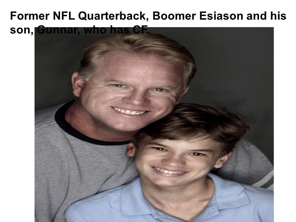 Former NFL Quarterback, Boomer Esiason and his son, Gunnar, who has CF.