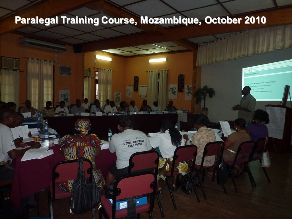 Paralegal Training Courses: CSO, NGO, public sector staff, and community leader are being trained on the most important laws regarding access to land,
