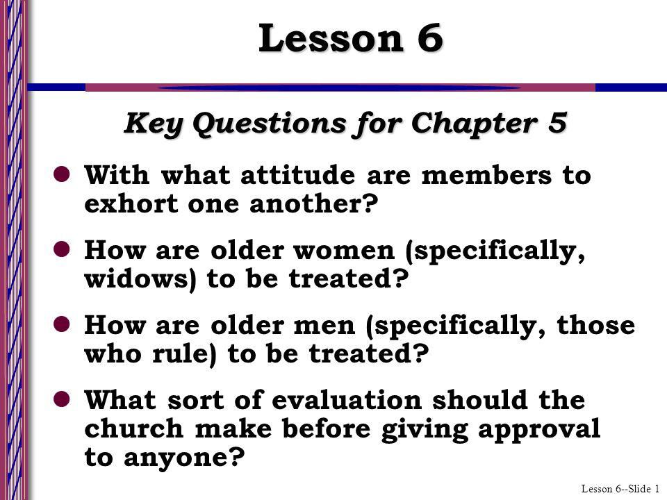 Lesson 6--Slide 2 Church Internal Responsibilities (Ch.
