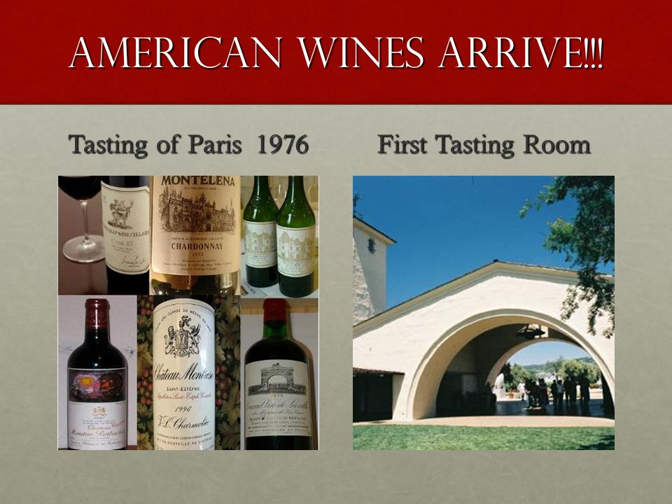 American wines Arrive!!! Tasting of Paris 1976 First Tasting Room