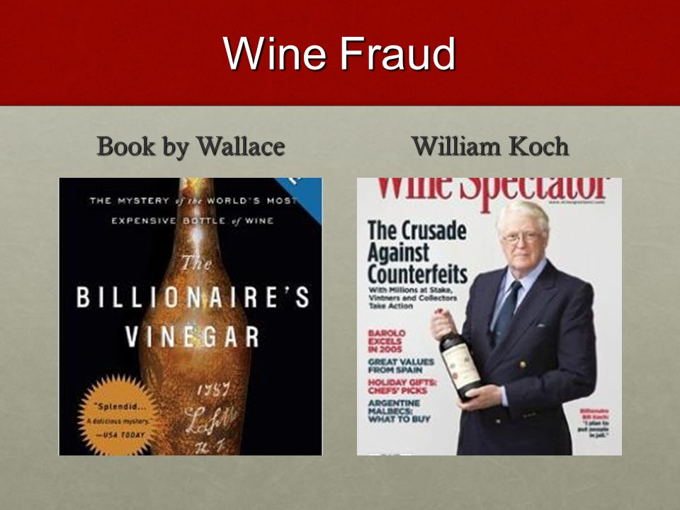 Wine Fraud Book by Wallace William Koch