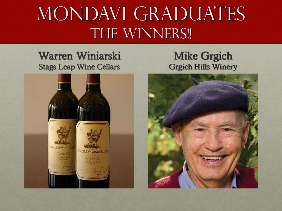 Mondavi Graduates The Winners!.