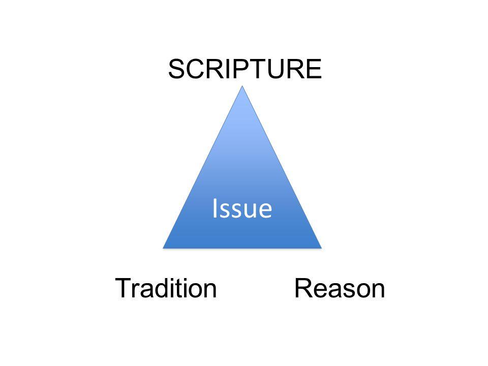 Issue SCRIPTURE TraditionReason