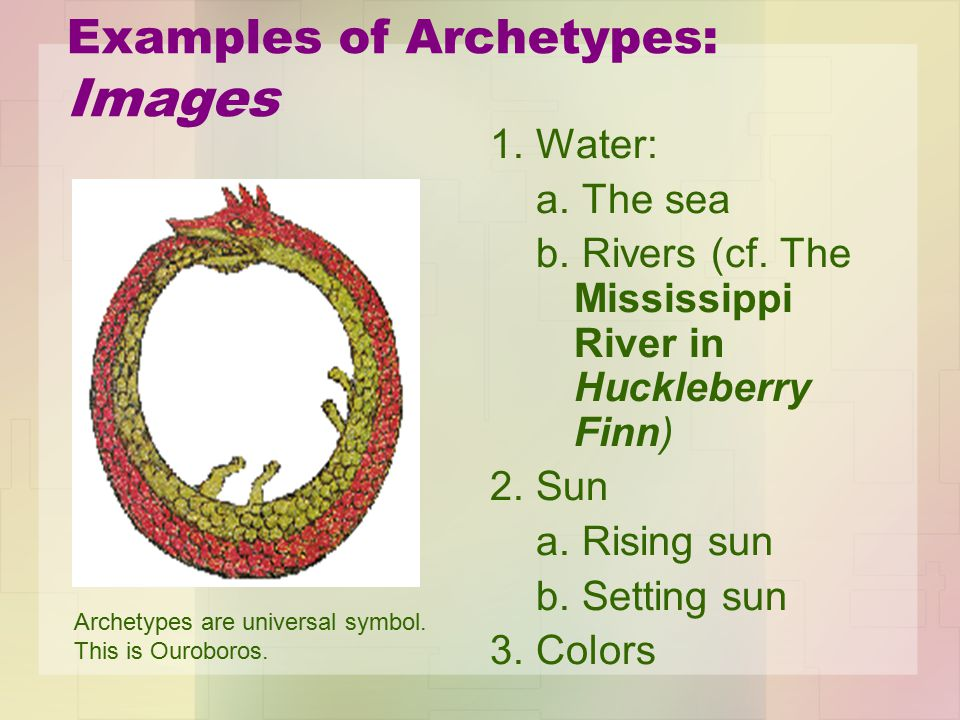 Examples of Archetypes: Images 1. Water: a. The sea b.