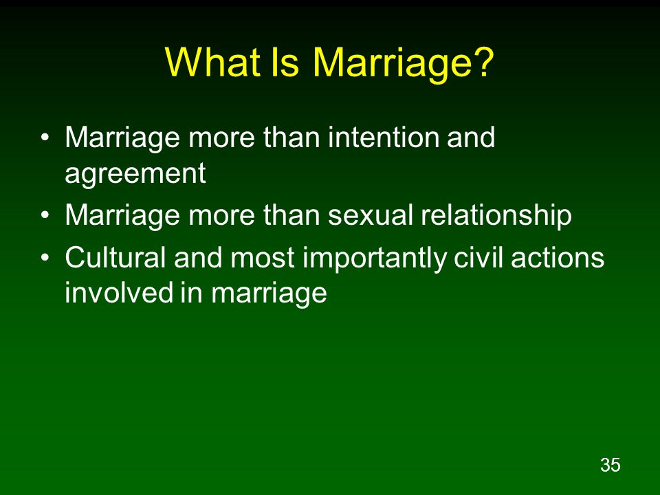 35 What Is Marriage.
