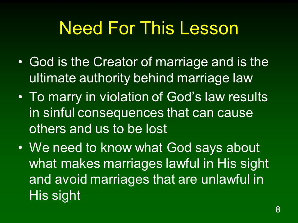 59 Does God Recognize And Approve All Marriages.