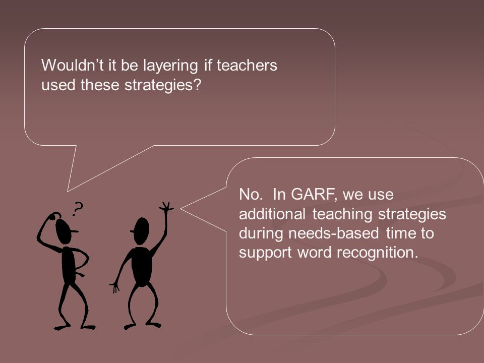 Wouldn't it be layering if teachers used these strategies.