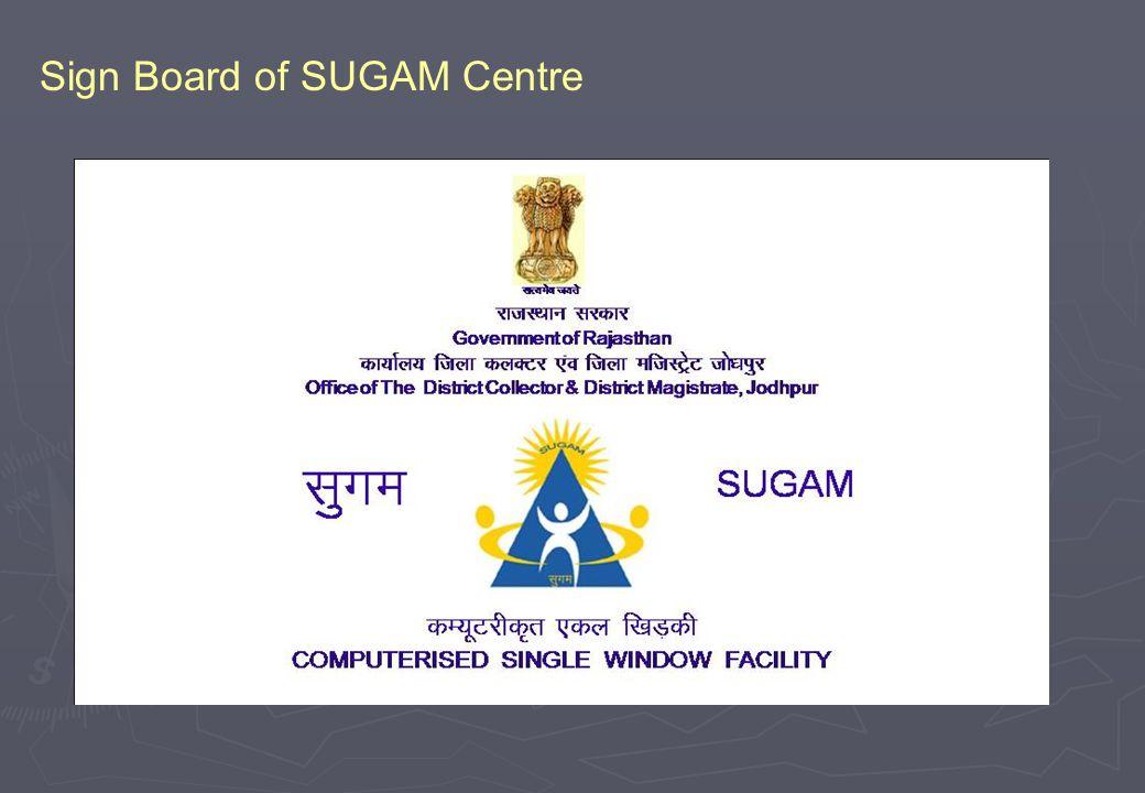 Sign Board of SUGAM Centre