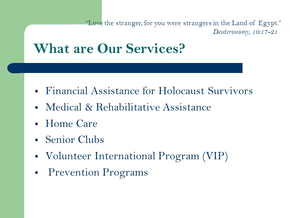 What are Our Services.