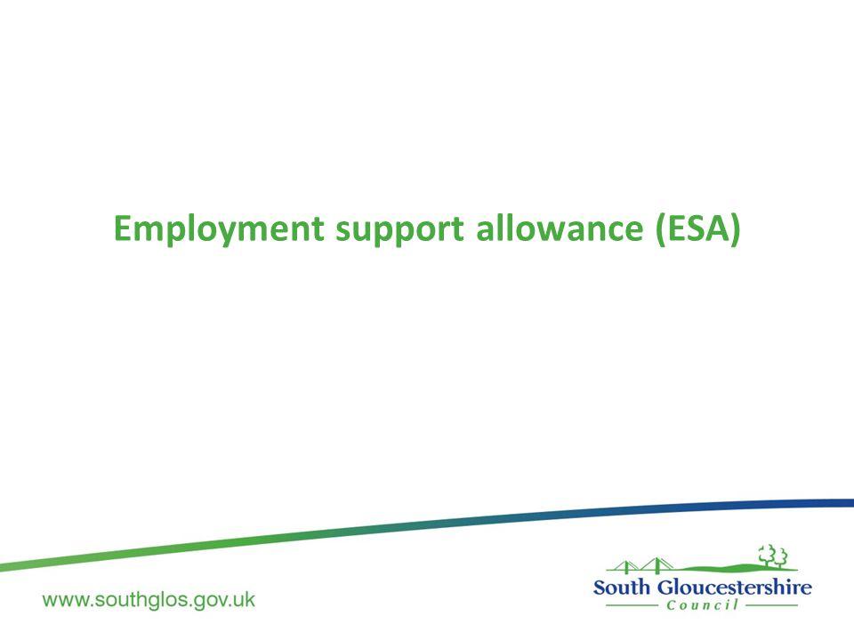 Employment support allowance (ESA)