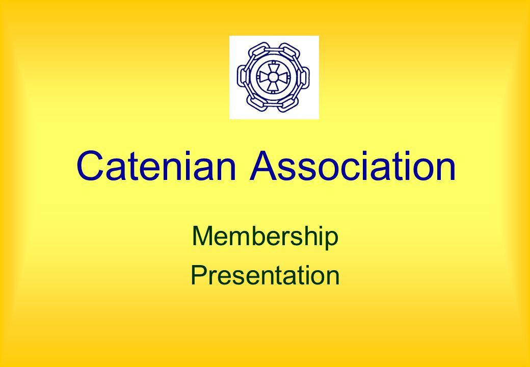 Catenian Association Membership Presentation