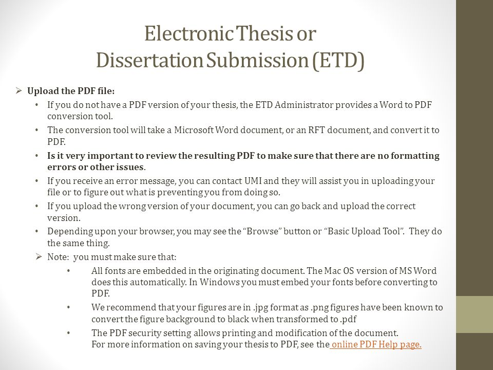 electronic theses and dissertations in Embargoing your electronic thesis or dissertation embargo is the term used to describe a delayed release or delayed availability of scholarly work.
