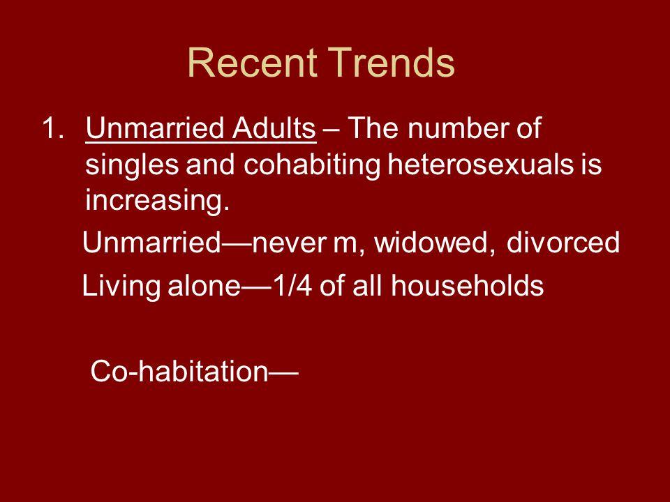 Cohabitation-reasons 1.Same sex partners-marriage prohibited 2.
