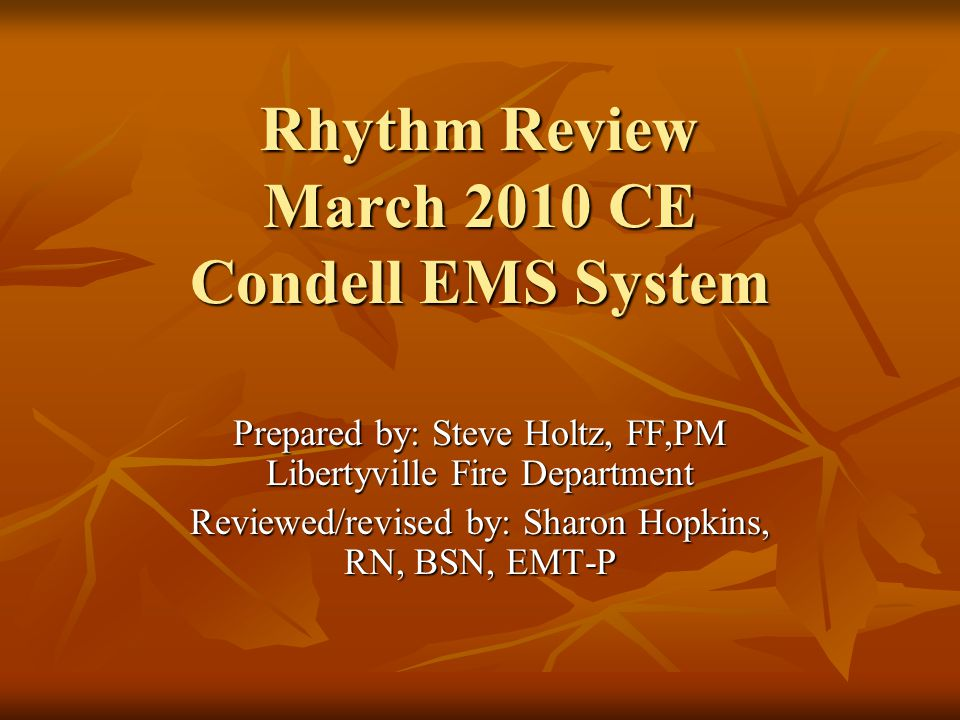 Rhythm Review PEA – rate >60 CPR, search for causes (6 H's, 5 T's) Epinephrine 1 mg every 3- 5 minutes NO atropine – rate >60!!.
