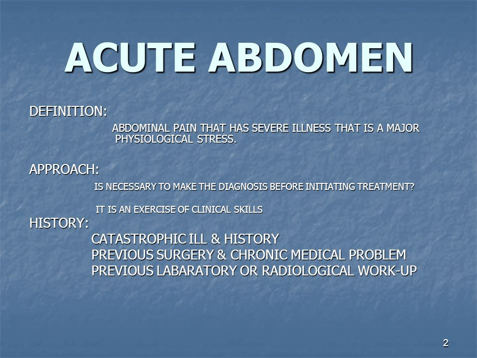 13 ACUTE ABDOMEN PATHOLOGY & PRESENTATION ACUTE NONE PERFORATING APPENDICITIS SYMPTOMES: ABD PAIN 95% LOCALIZING ANOREXIA 90% NAUSEA & VOMITTING 60-80% DIARRHEA 7-10 % FEVERCOMMON SIGNS: LOW GRADE TEMP TACHYCARDIA TENDERNESS & REBOUNDGUARDING, WHEN.
