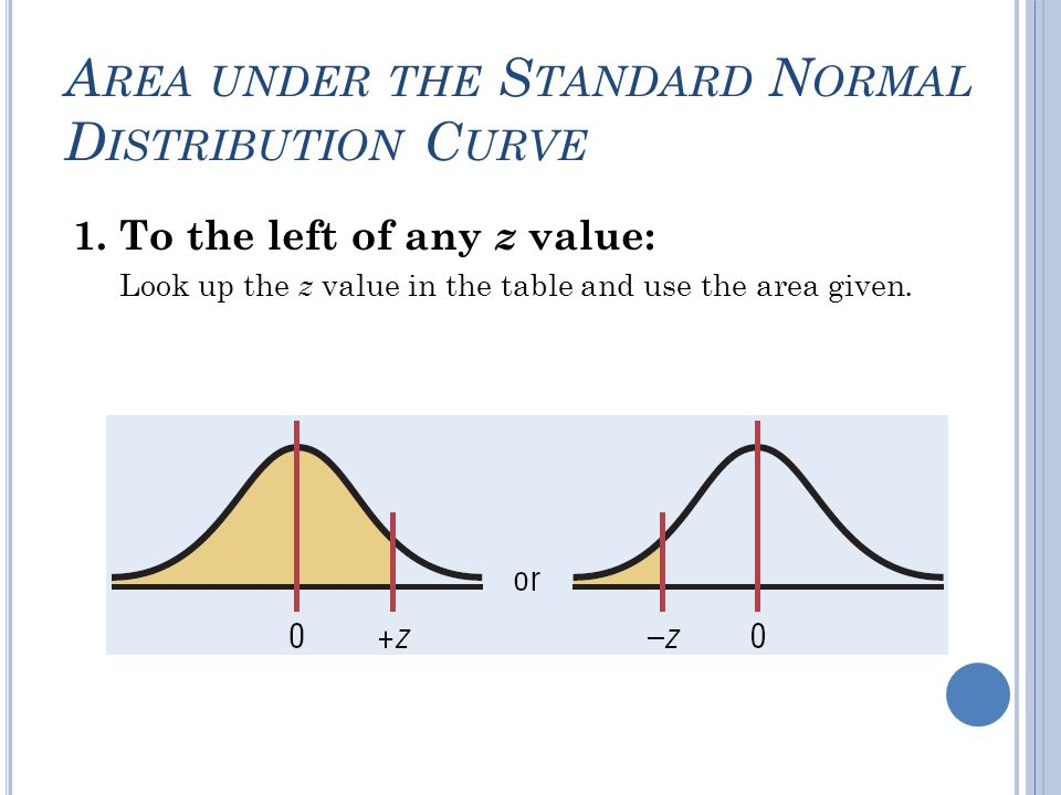 S TANDARDIZING V ALUES Recall z-score: z = (x - µ)/σ