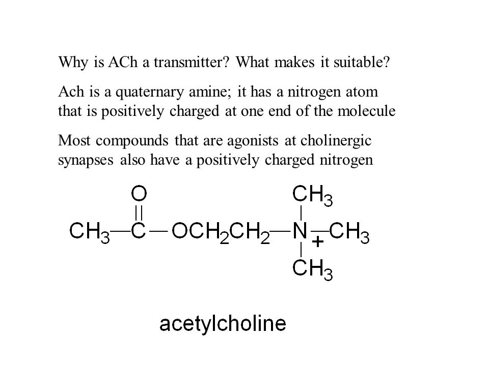 Why is ACh a transmitter. What makes it suitable.