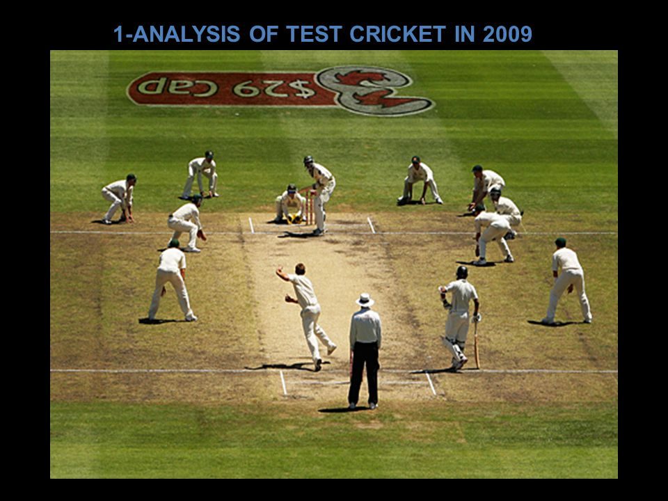1-ANALYSIS OF TEST CRICKET IN 2009