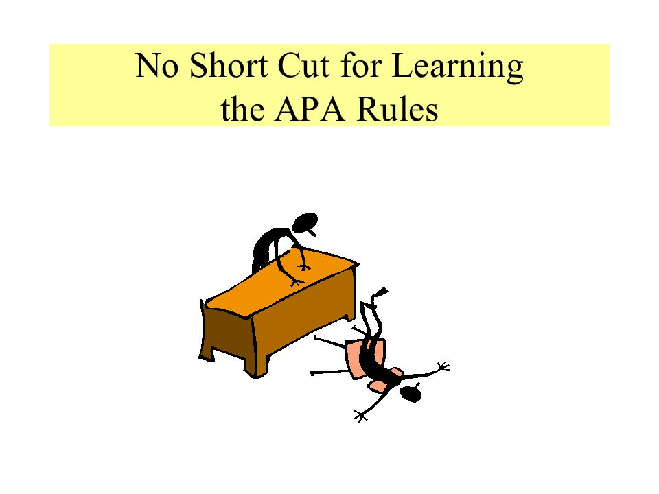 No Short Cut for Learning the APA Rules