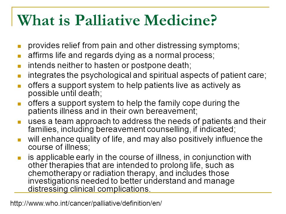 What is Palliative Medicine.