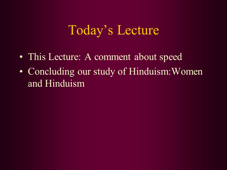 This Lecture I'm again covering a lot of material in lecture.